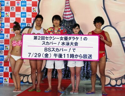 ポロリ確実!!今年もセクシー女優だらけの水泳大会を開催