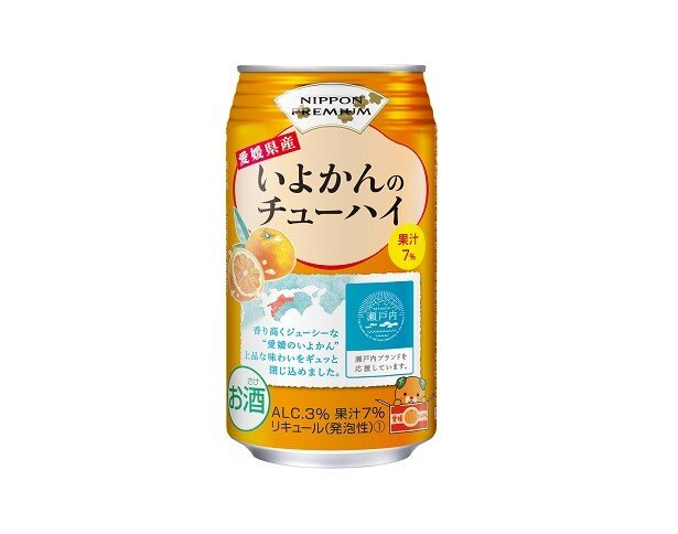 「NIPPON PREMIUM 愛媛県産いよかんのチューハイ」(税別143円)