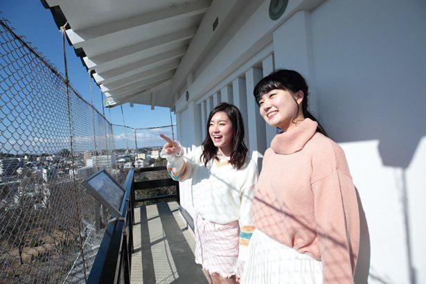 標高47mの展望台からは、晴れていれば富士山も一望できる / 浜松城