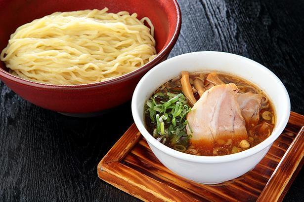 三河醸しつけ麺(850円)。スープや麺は2か月ごとに変わる