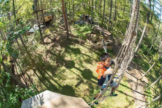 九州に6パークある施設はすべて開放感抜群の森の中