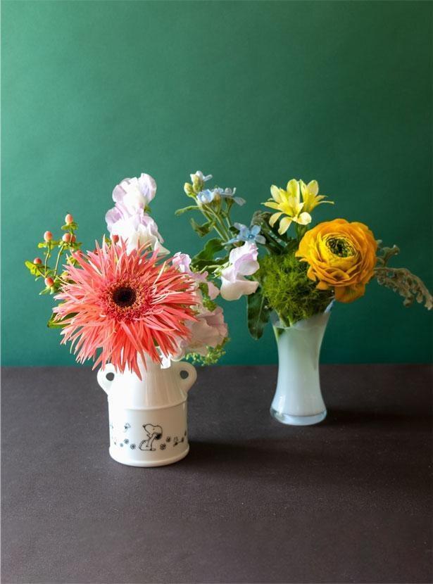 全国の花農家から、摘みたての花が産地直送で届く「kumpu DAY & FLOWERS(クンプー デイ&フラワーズ)」。そんな素敵なサービスに、スヌーピーの花器がセットになった定期便が登場
