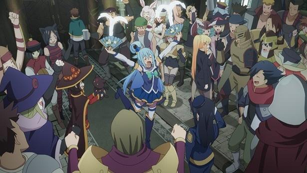 「この素晴らしい世界に祝福を!2」第5話先行カットが到着。魔王軍の幹部に遭遇!