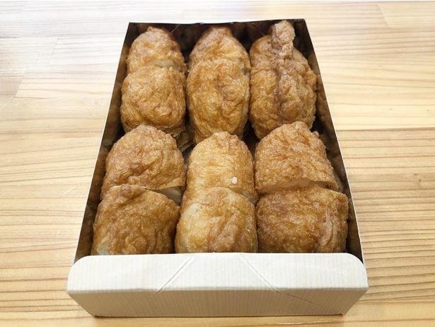大きめの揚げに「三郎寿司」と同じ酢飯を使用したいなり寿司