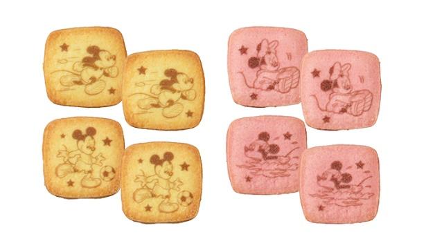 クッキーは2種類。プリントされたミッキー&ミニーがかわいい!