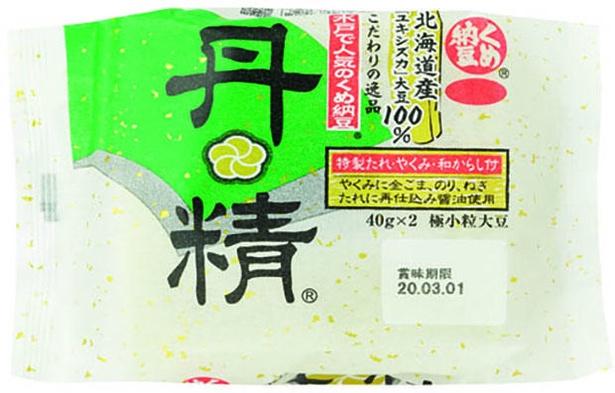 くめ納豆丹精(ミツカン、¥239/40g×2 167kcal/可食部100g当たり)