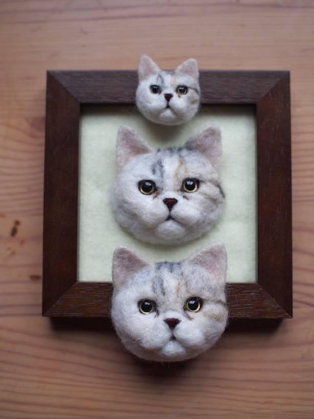 同じモデル猫の作品でも、サイズによって違った良さが