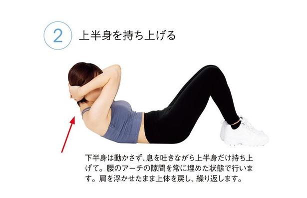 基本のクランチ(腹筋)1