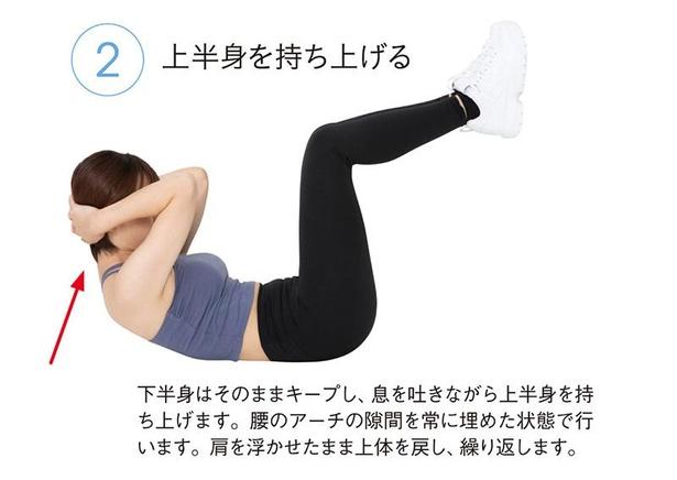 基本のクランチ(腹筋)2