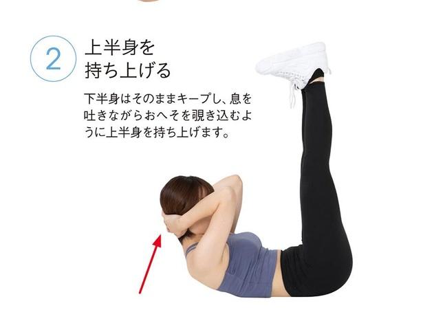 基本のクランチ(腹筋)3