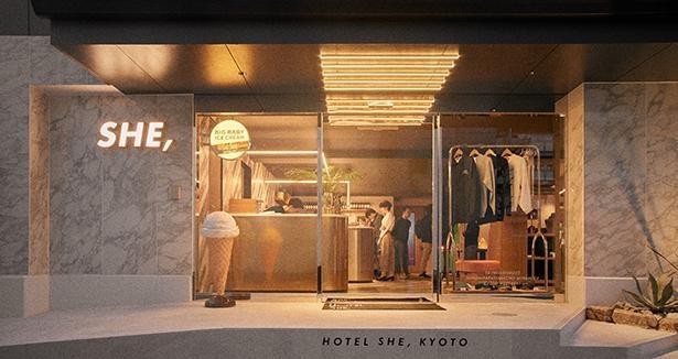 京都・ 東九条にあるブティックホテル「HOTEL SHE, KYOTO」