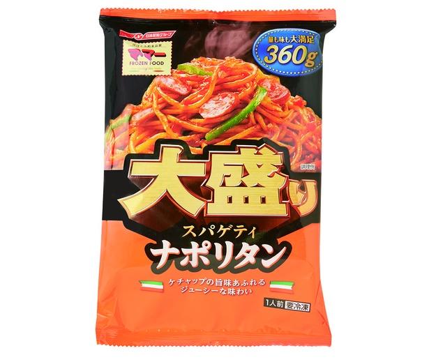 マ・マー 大盛りスパゲティ ナポリタン(日清フーズ、オープン価格/360g 501kcal)
