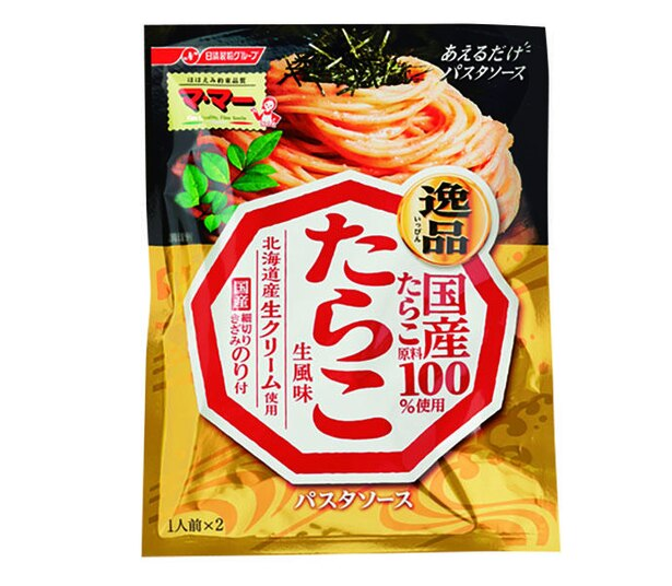 マ・マー あえるだけパスタソース  逸品 たらこ 生風味(日清フーズ、¥230/50g  86kcal/1人前(25g)当たり)