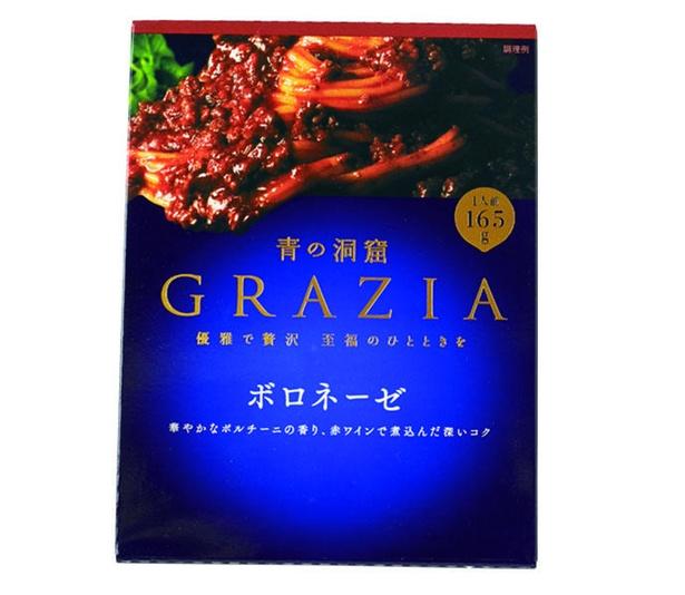青の洞窟 GRAZIA ボロネーゼ(日清フーズ、¥330/165g 228kcal)
