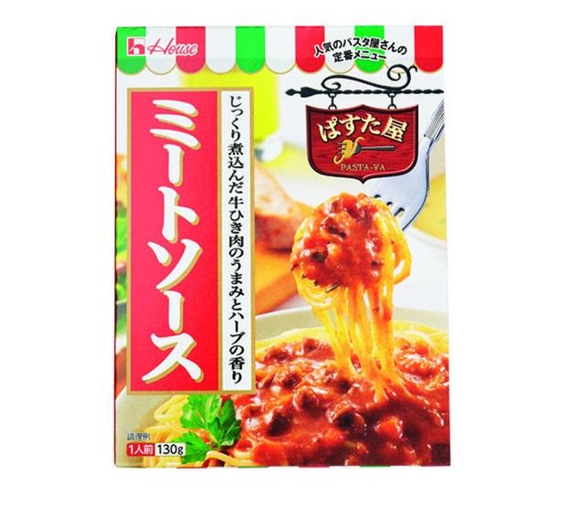 ぱすた屋<ミートソース>(ハウス食品、¥120/130g 132kcal)