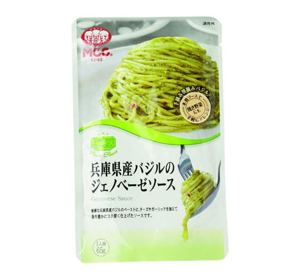 兵庫県産バジルのジェノベーゼソース(エム・シーシー食品、¥210/65g 142kcal)