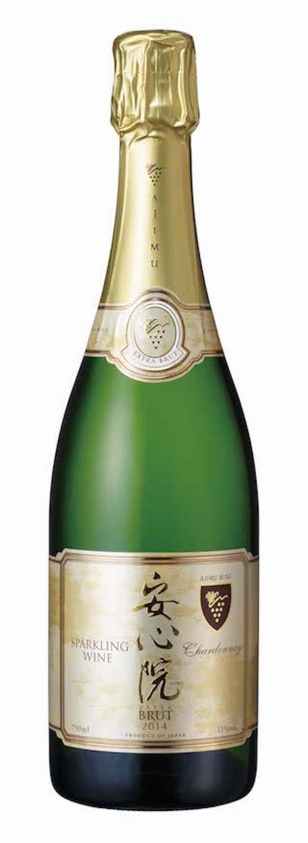 安心院スパークリングワイン(750ml 3500円・税込)