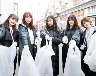 人気アイドルグループNMB48が大阪で清掃活動 10年間の感謝を込めて難波お掃除隊を結成