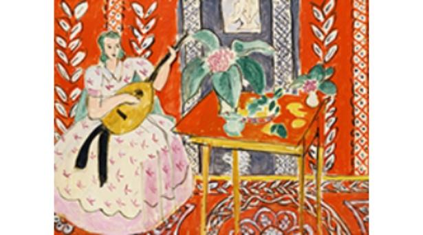塗り絵の元絵である、アンリ・マティスの名作「リュート」