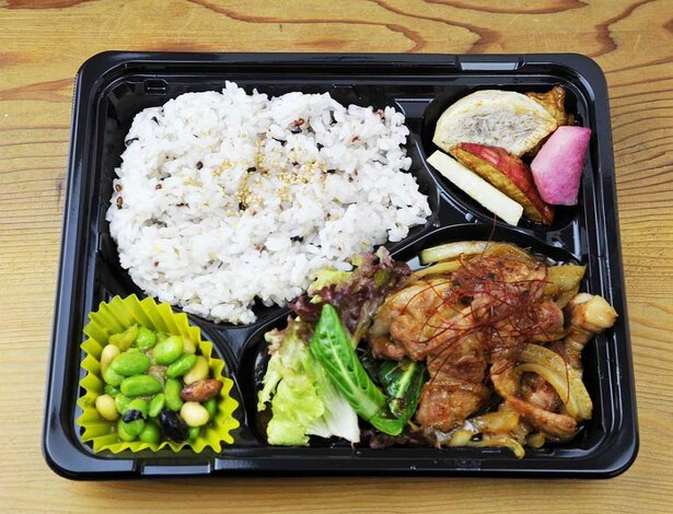 箱根山麓豚の生姜焼き弁当(700円)