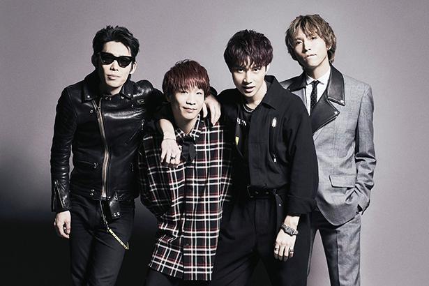 左から、ジェットセイヤ(Dr)、長谷川プリティ敬祐(B)、牧 達弥(Vo&G)、柳沢進太郎(G)