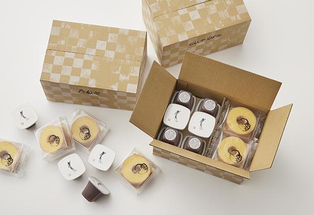 北海道産小豆の風味と旨みを追求した水羊羹と大人気のバームクーヘンが味わえる、のどごし一番本生水羊羹&バームクーヘンmini シェアボックス
