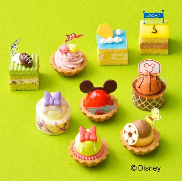 9種のプチケーキはどれも細工が凝らされていて、写真映え抜群のかわいさ