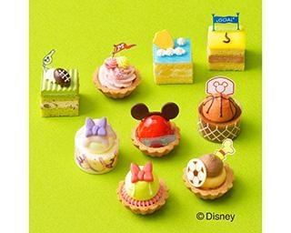 ディズニーのプチケーキ詰め合わせがコージーコーナーから発売!ミッキーたちがスポーツに挑戦