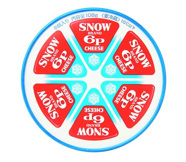 6Pチーズ(雪印メグミルク、¥365/108g(6個入り)  325kcal/100g当たり)