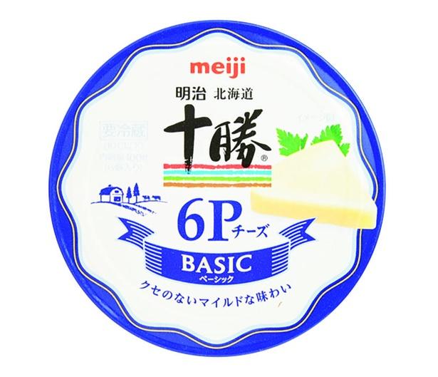 明治北海道十勝6Pチーズ ベーシック(明治、¥330100g(6個入り) 56kcal/1個当たり)