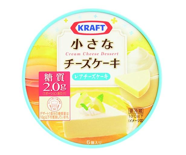 クラフト 小さなチーズケーキ レアチーズケーキ(森永乳業、¥320/102g(6個入り) 52kcal/1個当たり)