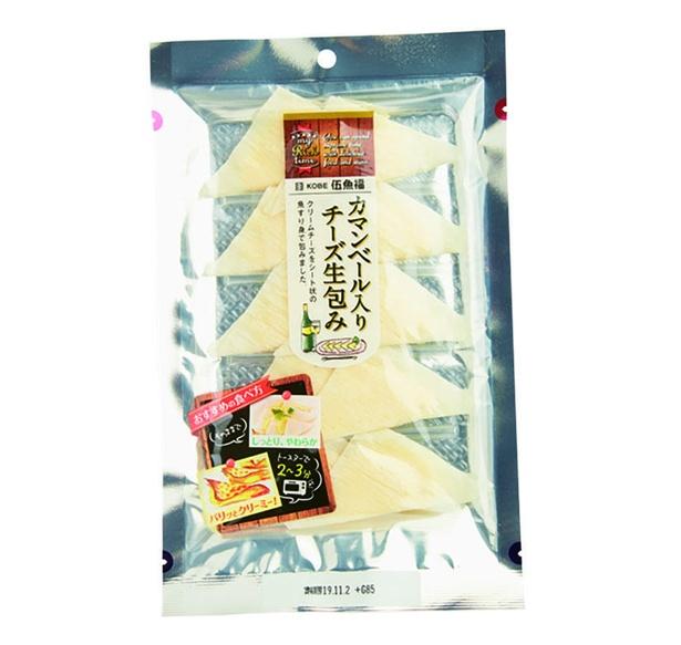 カマンベール入りチーズ生包み(伍魚福、¥440/10個 22kcal/1個当たり)