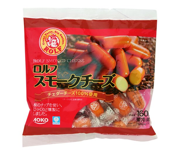 ロルフ スモークチーズ(宝幸、¥700(希望小売価格)/160g  354kcal/100g当たり)