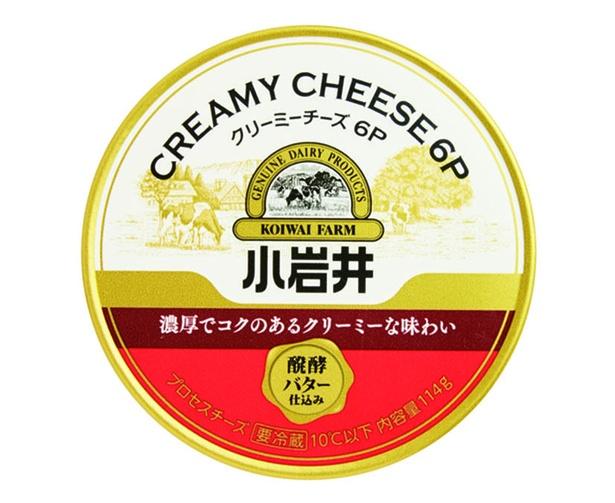 小岩井 クリーミーチーズ6P(小岩井乳業、¥390/114g(6個入り) 66kcal/1個当たり)