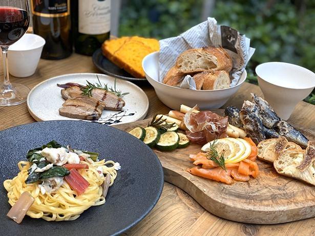 【写真】生産者から届いた食材を贅沢に使用した、イタリアンコース3人前~