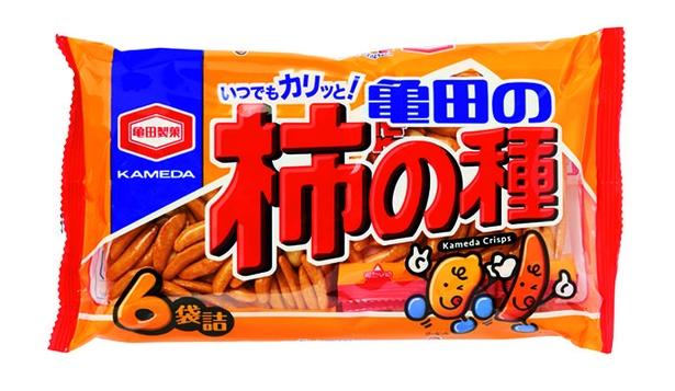 亀田の柿の種(亀田製菓、¥302/200g  157kcal/1個包装当たり、470kcal/100g当たり)