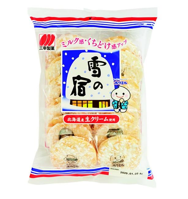 雪の宿サラダ(三幸製菓、¥220(希望小売価格)/24枚  460kcal/100g当たり)