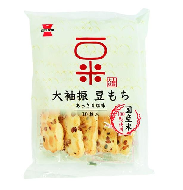 大袖振豆もち(岩塚製菓、¥260(参考小売価格)/110g  498kcal/100g当たり)