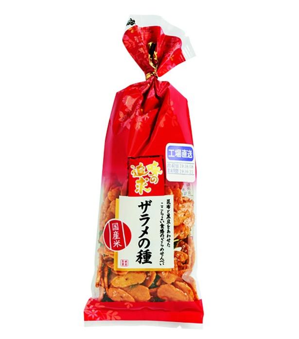 味の追求 ザラメの種(越後製菓、¥170/65g 253kcal/1袋(65g)当たり)