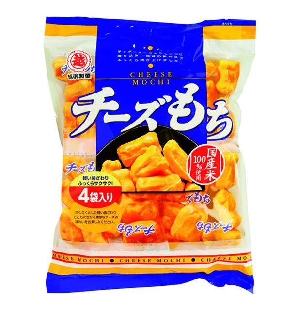 チーズもち(越後製菓、¥226/76g 565kcal/100g当たり)