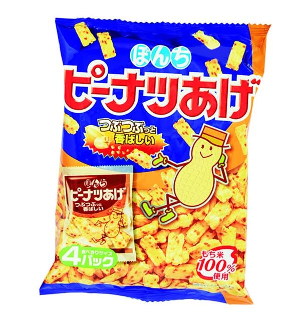 ピーナツあげ(ぼんち、¥237/104g 578kcal)