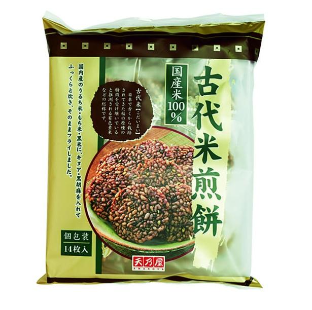 古代米煎餅(天乃屋、¥258/14枚 38kcal/1枚当たり)