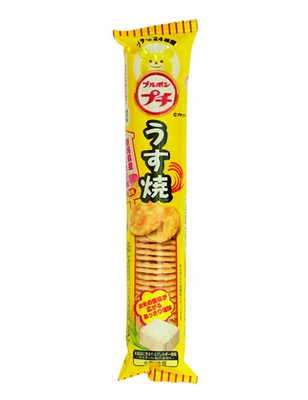 プチうす焼(ブルボン、¥86/36g 153kcal/1袋当たり)