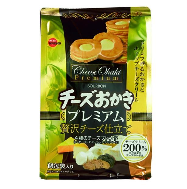 チーズおかきプレミアム(ブルボン、¥324/60g 300kcal/1袋当たり)
