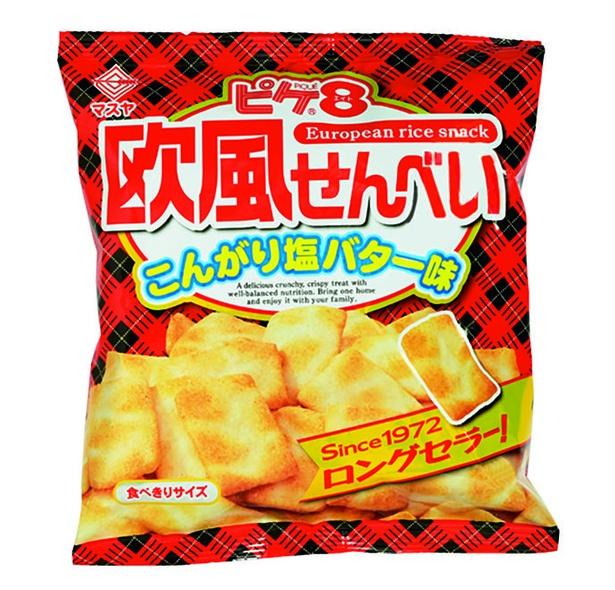 62gピケエイト(マスヤ、¥140/62g 301kcal/1袋(62g)当たり)