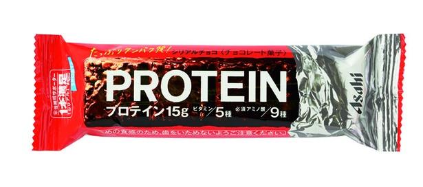 1本満足バー プロテインチョコ(アサヒグループ食品、¥140/1本 183kcal)