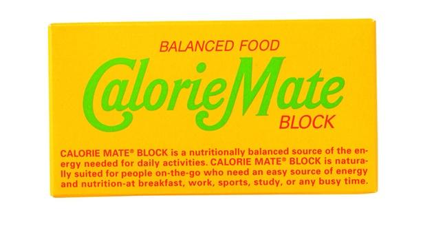 カロリーメイト ブロック フルーツ味(大塚製薬、¥100/40g(2本入り) 200kcal)