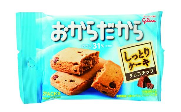 おからだから チョコチップ(江崎グリコ、オープン価格/2個 102kcal/1個当たり)