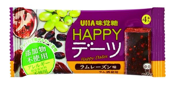 HAPPYデーツ ラムレーズン味(UHA味覚糖、¥130/29g 109kcal)