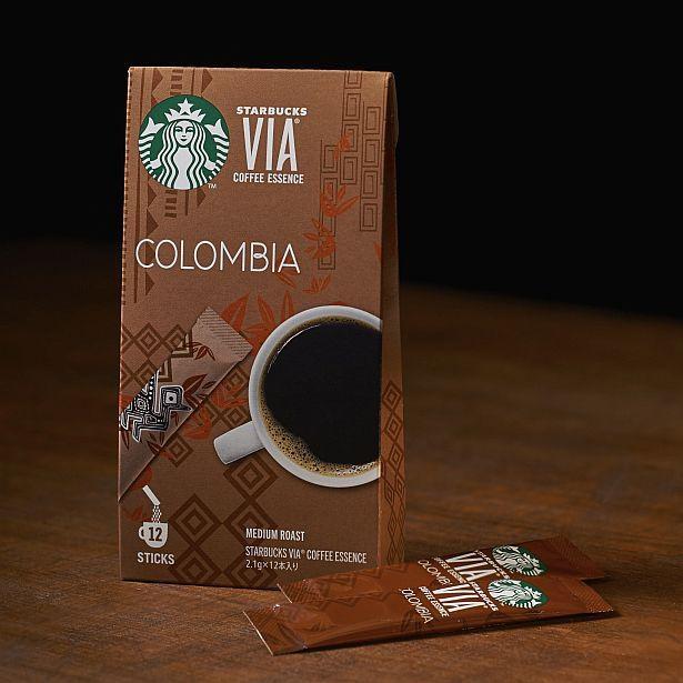 ナッツを感じさせる風味が特徴。「スターバックス ヴィア コロンビア」